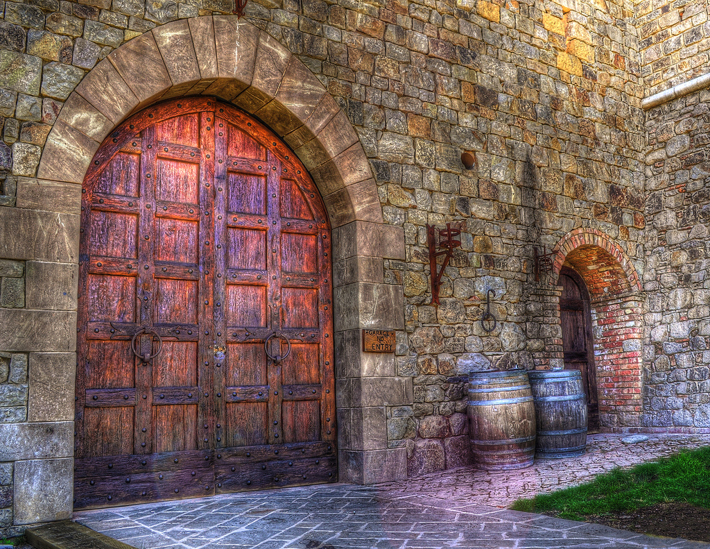 castle doors, old english castle