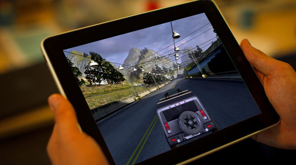 mobile gaming on tablet