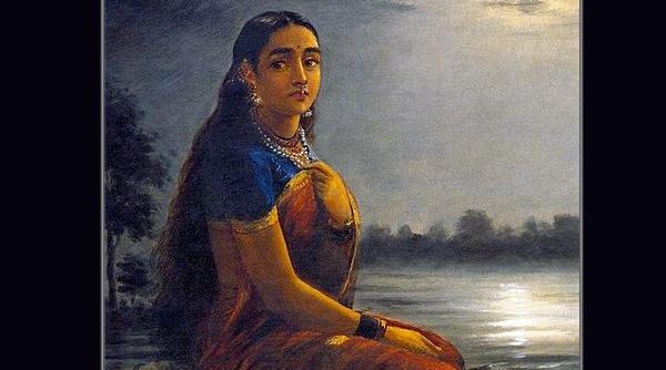 Loneliness Raja Ravi Varma
