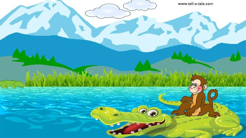 Monkey And Crocodile panchatantra