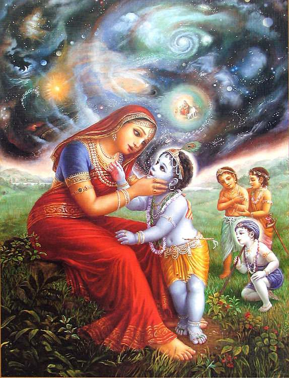 Yashoda sees entire world in lord krishna mouth