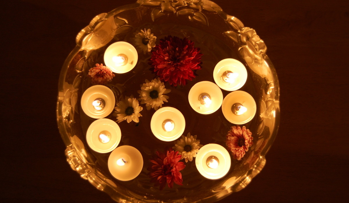 Floating candles on Karva Chauth