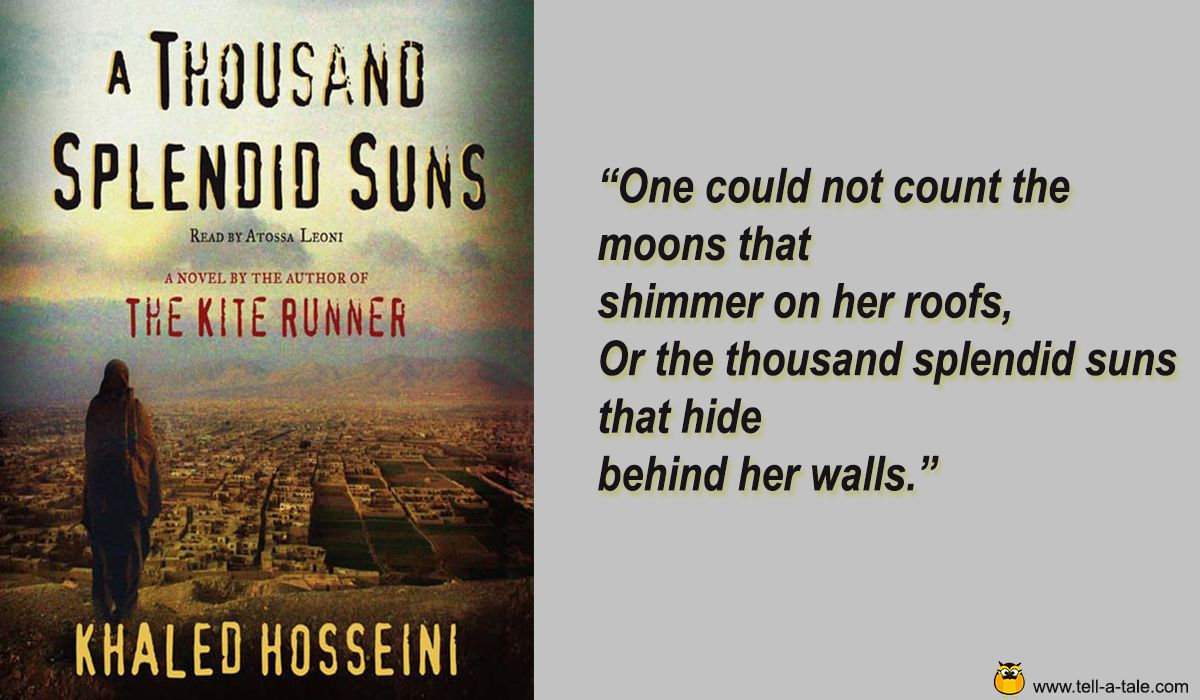 a thousand splendid suns reivew A thousand splendid suns is a more ambitious novel than the kite runner, with a wider and deeper historical and cultural scope that illuminates the last three decades of afghan history during which the country has been inflicted by coups and counter-coups, an anti-soviet jihad, civil war, warlord and taliban tyranny, and post 9/11 conflict.