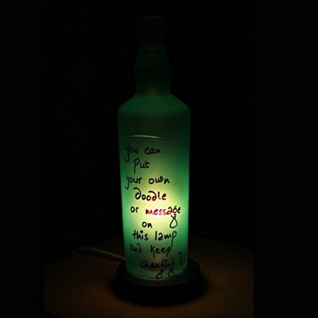 doodle night lamp bottle