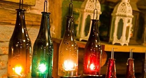 Diwali Decoration Bottle Candle Holder