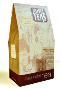 novel tea bags with quotes