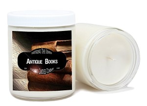 vintage books perfumed candle