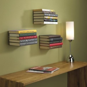 floating bookshelves