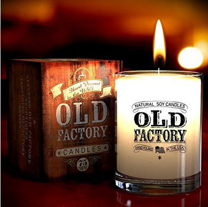 leather soy candles scented