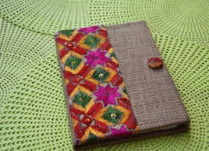 rangroute jute diary with hand embroidery