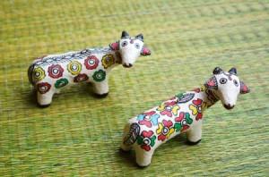rangroute madhubani paper mache figurines