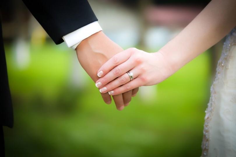 Young married couple wedding