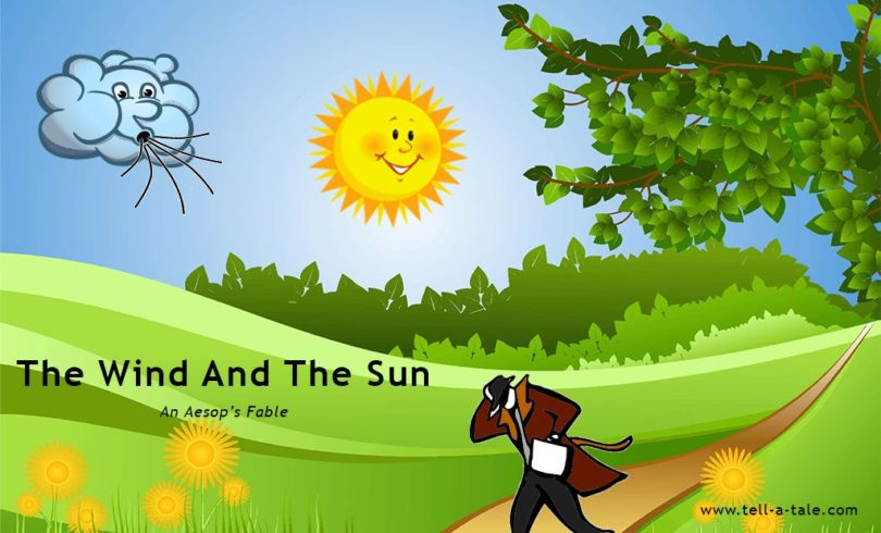 The wind and the sun aesop's fables stories for children