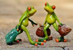 frogs walking with bags japanese folktales