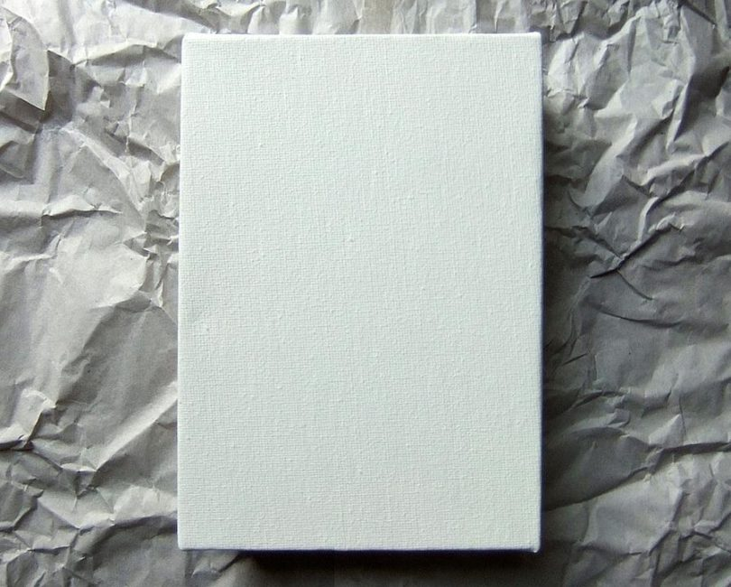 blank canvas white paper
