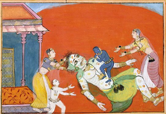 putana being killed by krishna